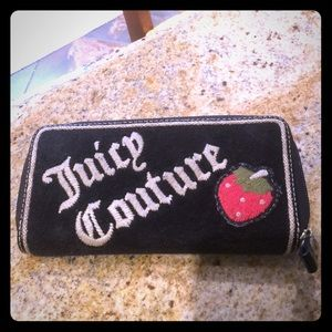 Juicy Couture Terry Cloth & Patent Leather Wallet